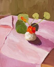 Laura-Jones_Nasturtiums-in-Alexs-vase